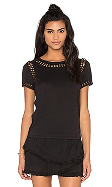 Generation Love Keira Knot Top in Black