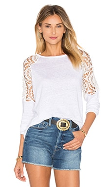 Generation Love Veronica Linen Top in White