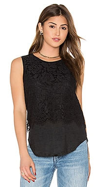 Generation Love Nori Eyelash Top in Black