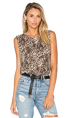 Julia Holes Tank in Leopard Print