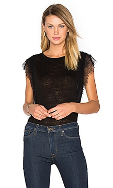 Arabella Lace Tank in Schwarz
