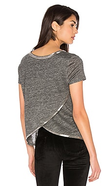 Sam Herringbone Tee in Grey
