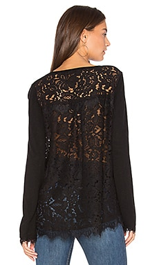 Marjorie Lace Top in Schwarz