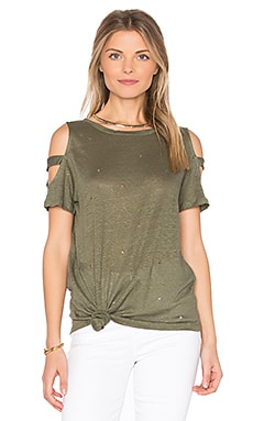 Kendall Holes Tee in Army Green
