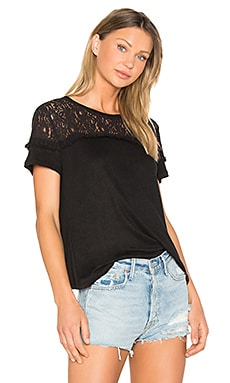 Rooney Lace Tee in Black