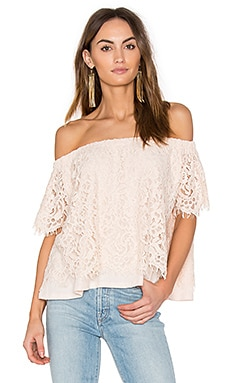 Carly Lace Top in Nude