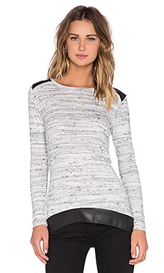 Generation Love Avery Long Sleeve Top in Melange Space Dye