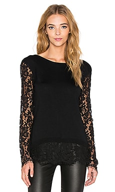 Generation Love Jenna Lace Long Sleeve Blouse in Black