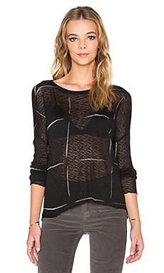 Generation Love Judy Windowpane Top in Black & Bleach