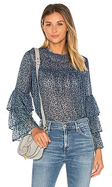 The Bell Sleeve Blouse in Indigo Enzyme