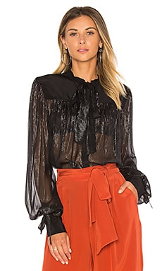 The Black Silver Blouse in Black & Silver Lurex