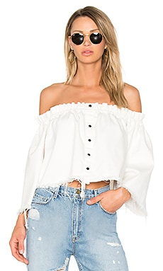The Off The Shoulder Frayed Top