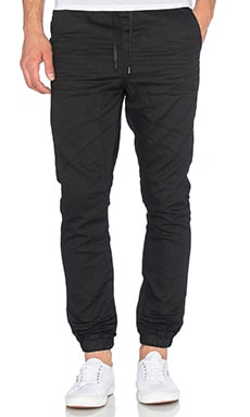 Globe Select Denim Joggers in Black Spray