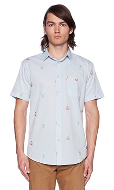 Globe McGrath Button Down in Light Blue