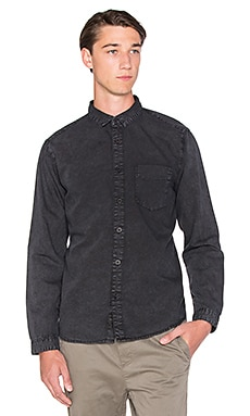 Globe Goodstock Vintage Button Down in Black