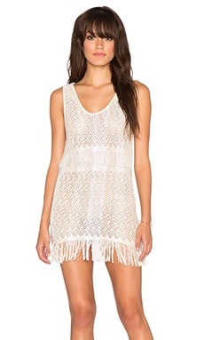 Goddis Zane Fringe Mini Dress in Bashful