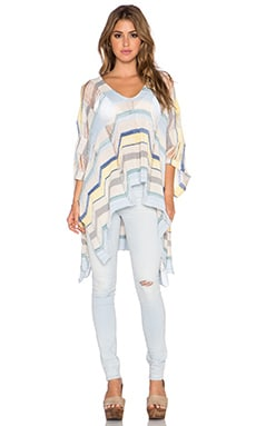 Goddis Waverly Poncho Dress in Clear Water