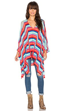Goddis Waverly Poncho Dress in Flamingo Dream