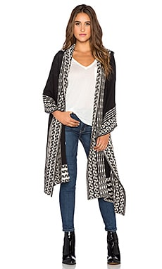 Goddis Lenox Hooded Wrap in Salt & Pepper