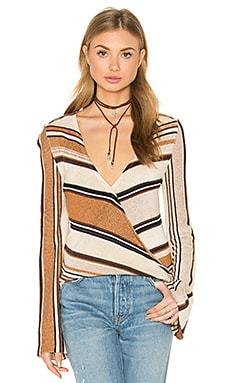 Cecilia V Neck Sweater en Desert Dream