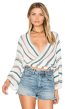 Dancer Wrap Sweater in Living Easy
