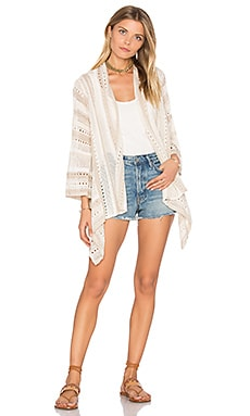 Jet Set Cardigan in White Smoke