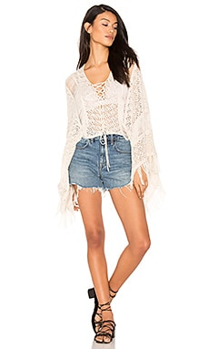 Island Gypsy Crop Poncho in Linen