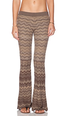 Goddis Foster Bell Bottom Pants in Smokey Taupe