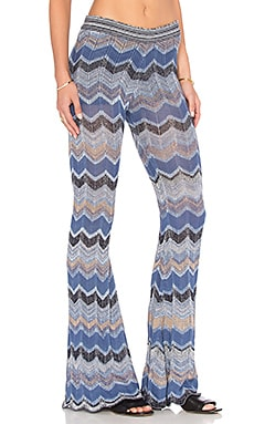 Goddis Soho Chevron Pant in Day Dream