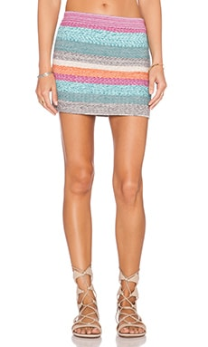 Goddis Colton Mini Skirt in Sea Treasure