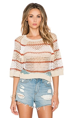 Goddis Charlize Long Sleeve Top in Peach Kiss