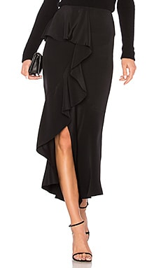 Off Center Ruffle Skirt