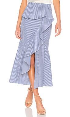 Striped Midi Skirt GOEN.J $168