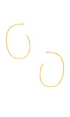 Laurel Large Hoops in Gold