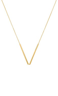 gorjana Bali Tube Small V Necklace in Gold