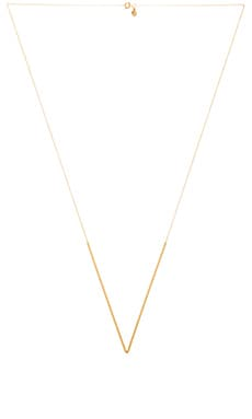 gorjana Bali Tube V Necklace in Gold