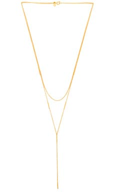 Nina Layered Lariat in Gold Matte