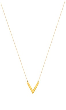 gorjana Shae Reversible Pendant Necklace in Gold