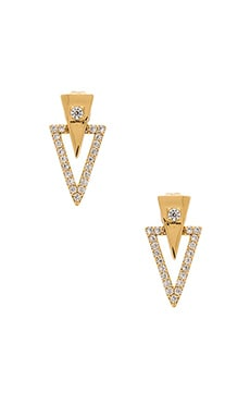 gorjana Shimmer Triangle Double Studs in Gold