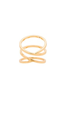 gorjana Zoe Crossover Ring in Gold