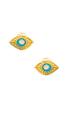 gorjana Evil Eye Studs in Gold