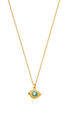 gorjana Evil Eye Necklace in Gold
