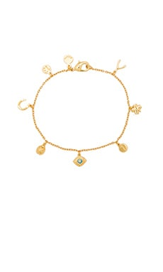 gorjana Good Luck Charm Bracelet in Gold