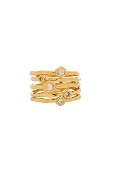 gorjana Siena Stacking Ring Set in Gold