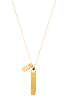 gorjana Billie Etched Necklace in Gold