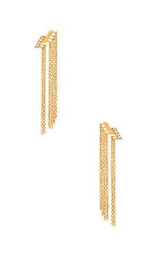 gorjana Petra Shimmer Fringe Earring in Gold