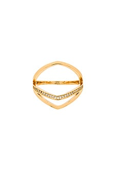 gorjana Cress Shimmer Split Ring in Gold