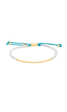 gorjana Taner Gemstone Bracelet in Aquamarine & Gold