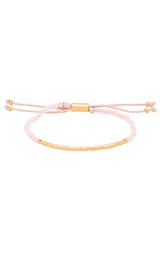 gorjana Taner Gemstone Bracelet in Rose Quartz & Gold