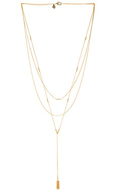 gorjana Joplin Layered Lariat in Gold